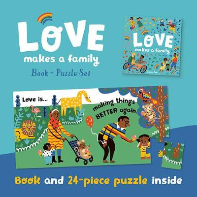 LOVE MAKES A FAMILY BOOK AND PUZZLE