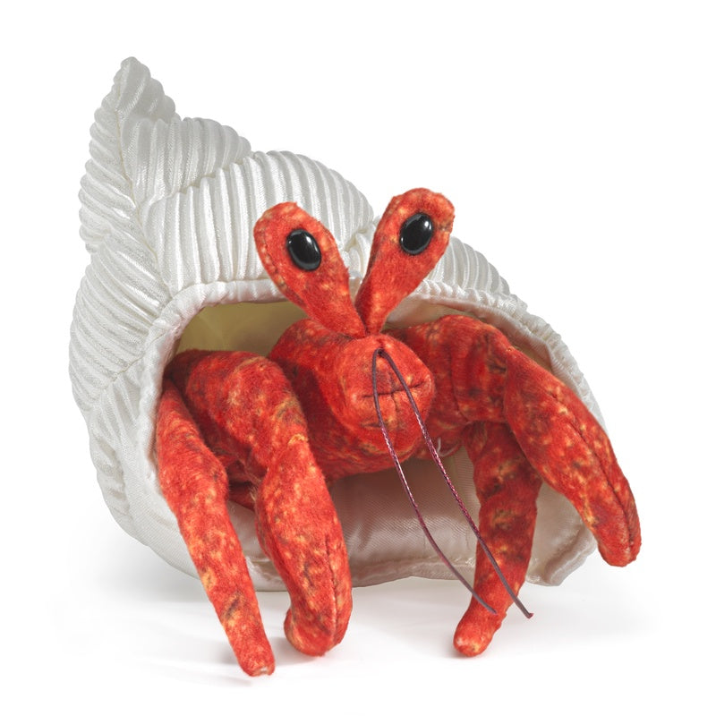 Folkmanis mini Hermit Crab Finger Puppet