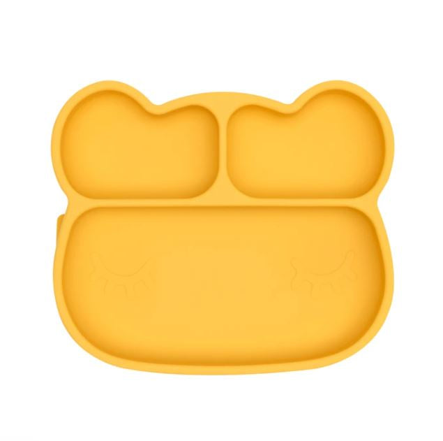 We Might Be Tiny Yellow Bear Stickie Plate