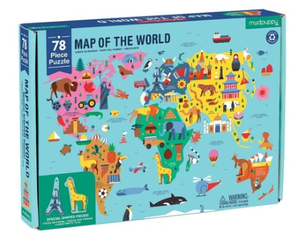 GEOGRAPHY 78PC PUZZLE- MAP OF THE WORLD