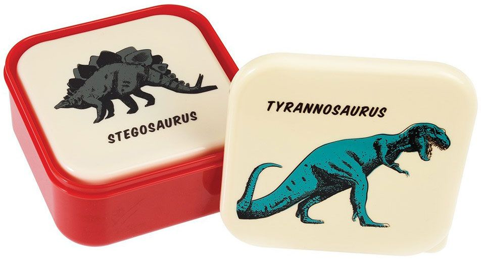 Retro Dinosaur Snack Box Set of 3