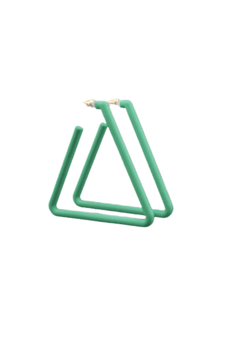 Tri Me Earring Green