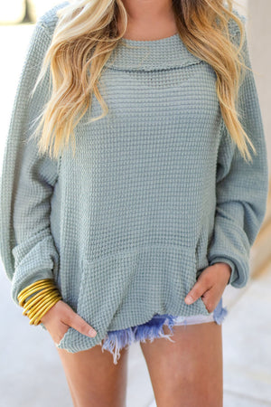 The Willow Waffle Pullover