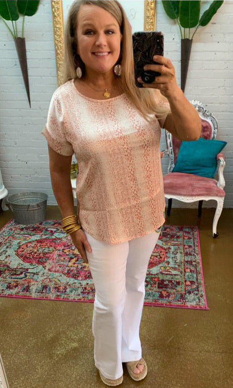 The Slinky Dot Top in Coral