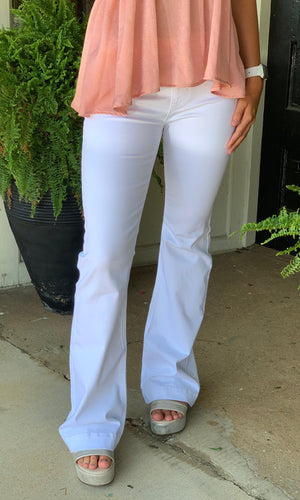 White Flare Jegging