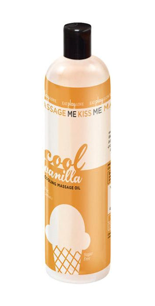 Cool Vanilla Cooling Massage Oil 8oz/240ml
