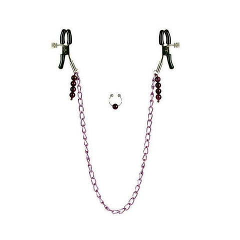 Chain Nipple Clamps & Naval Ring -  - California Exotics - My Bedroom Spice - 1