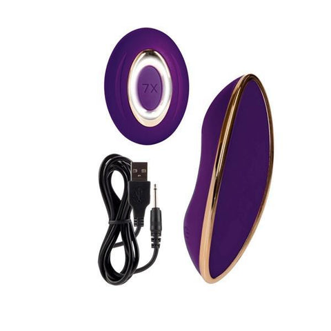 Entice Juliette USB Rechargeable Remote Panty Teaser Vibrator - Purple - California Exotics - My Bedroom Spice - 16