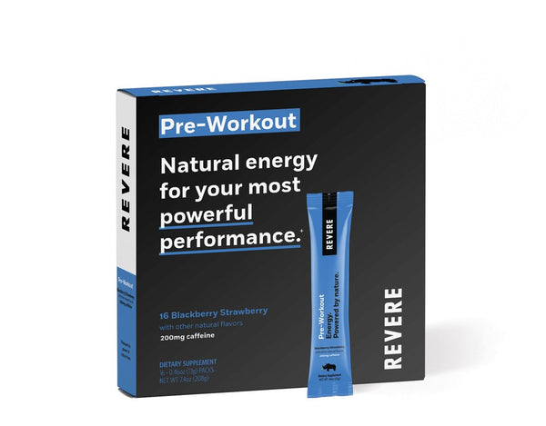 Revere Pre-Workout Monthly Subscription -- Includes Shipping