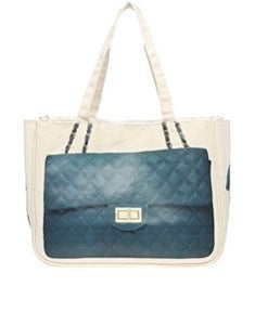 Big Bag Theory Printed Canvas Quilted Tote Bag