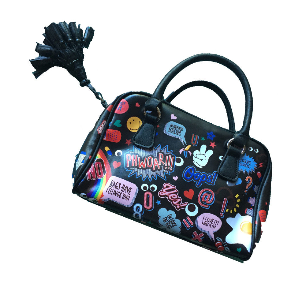 Emoji Sticker Handbag - BIG BAG THEORY
