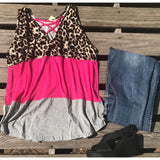 Leopard striped tank