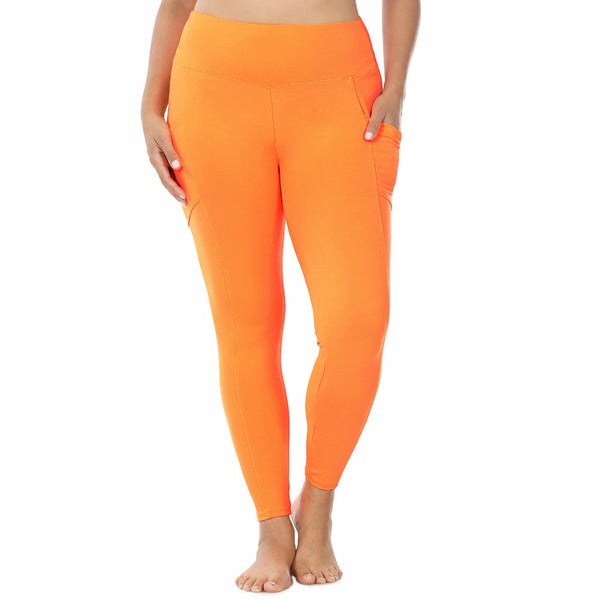 Orange  microfiber pocket leggings