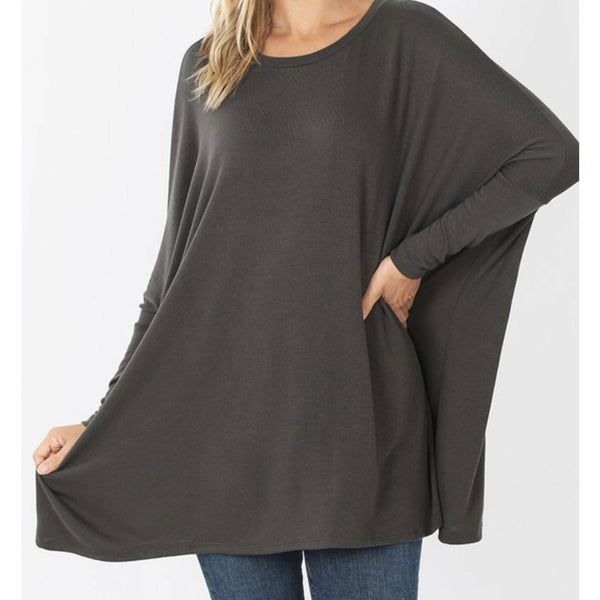 Ash grey sweater dolman