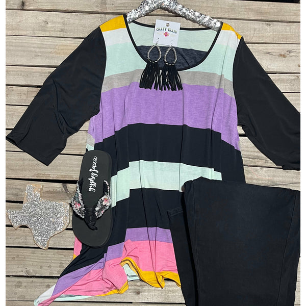 Pastel Striped tunic