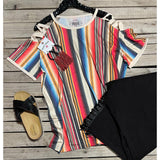 Serape cold shoulder top