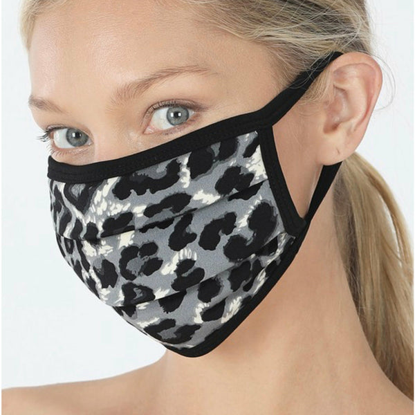 Grey leopard mask