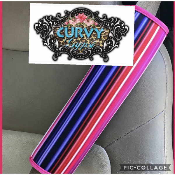 Serape seat belt covers