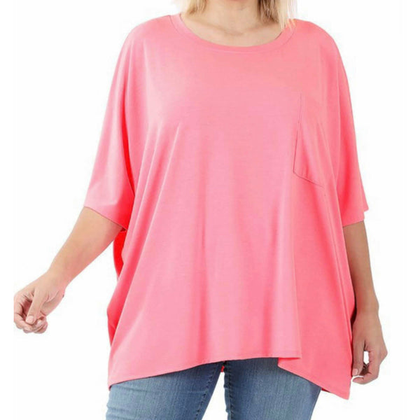 Pink  flowy pocket top
