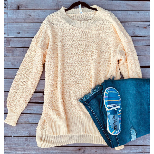 Light yellow popcorn sweater