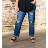 L&b new style distressed medium boyfriend. jean