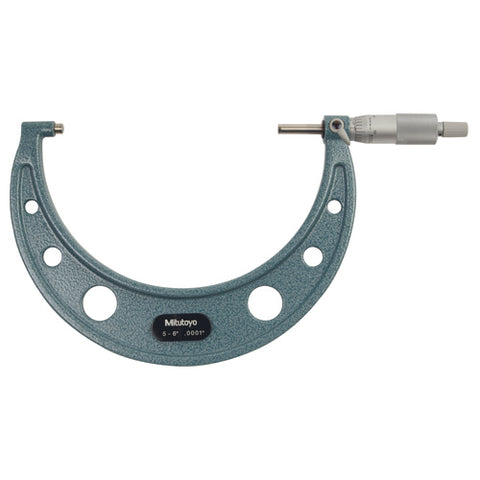 Mechanical Micrometer,  5-6 In, .0001 In RS