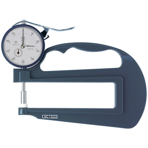Dial Thickness Gage, 0-1 In, .001 In