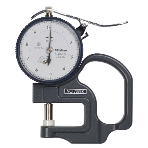 Dial Thickness Gage, 0-.05 In, .0001 In