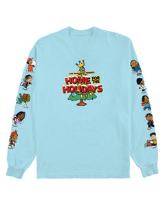 HOME FOR THE HOLIDAYS LONG SLEEVE - BABY BLUE