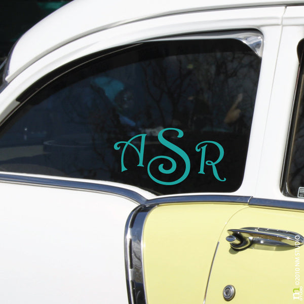 Ballard Monogram Car Decal