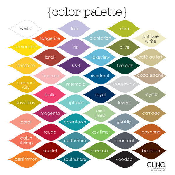 CLING Creative Living Color Palette