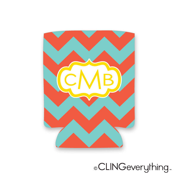 Chevron Koozie Personalized Monogram, Initial, Name