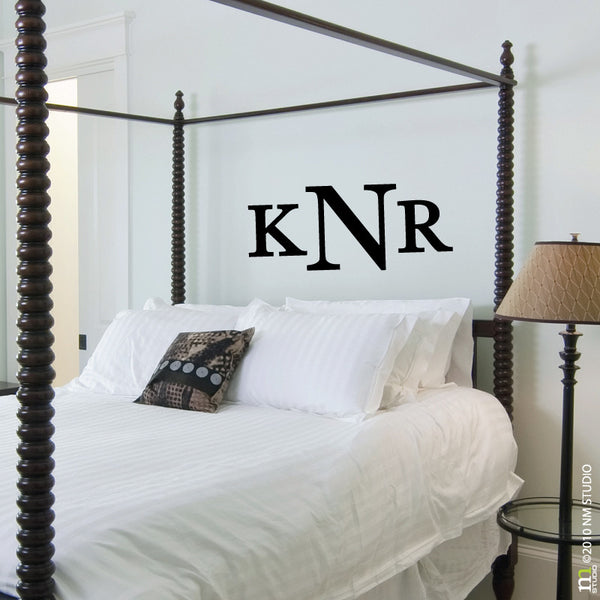 Clayton Monogram Wall Decal
