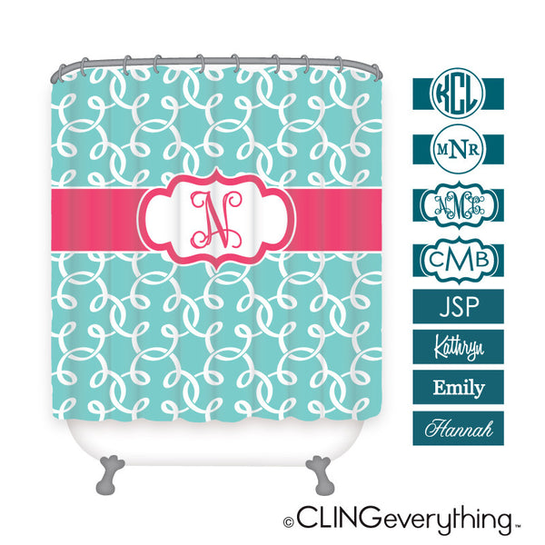 Clover Shower Curtain Personalized Monogram, Initial, Name