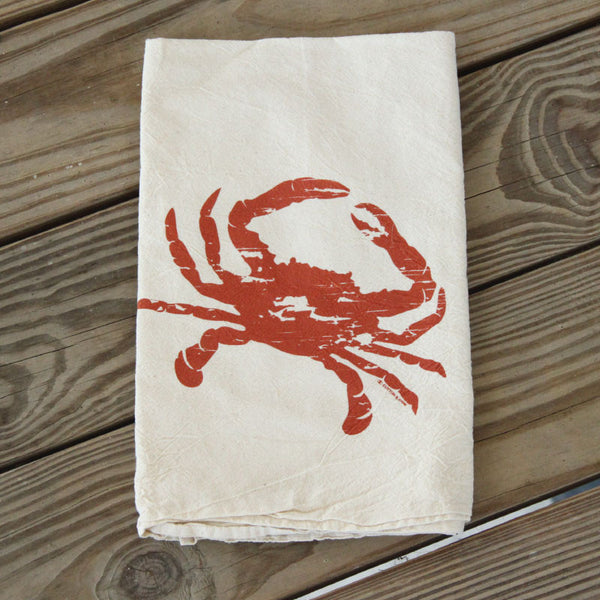 Crab Louisiana Seafood Kitchen Dish Towel Flour Sack Tea Towel