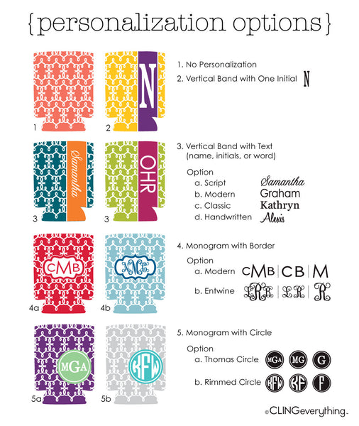 In'Stitches Koozie Personalized Monogram, Initial, Name Options