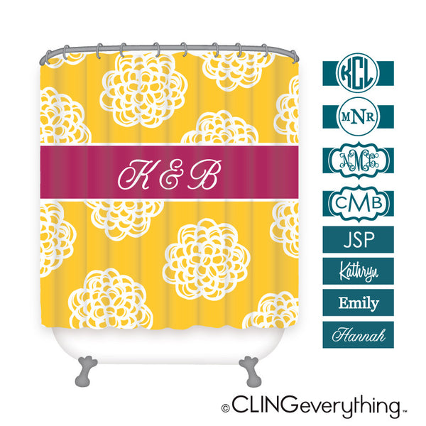 Dahlia Flower Koozie Personalized Monogram, Initial, Name Options