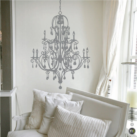 Chandelier decorative decals cling creative living delaney chandelier wall decal aloadofball Choice Image