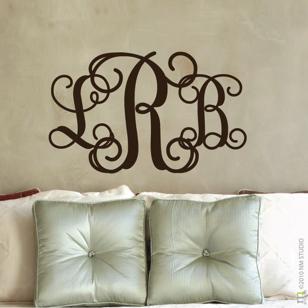 Entwine Monogram Wall Decal & Entwine Monogram Wall Decal - Cling Creative Living