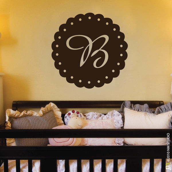 Eyelet Initial Wall Decal Nursery