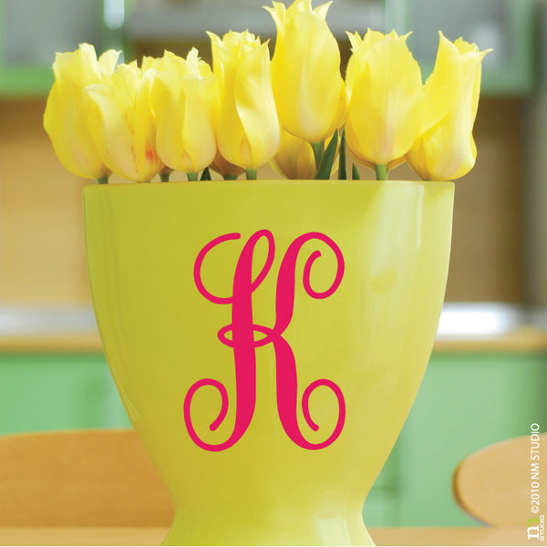 Fancy Initials Decal Party Centerpiece Small Letters Vinyl