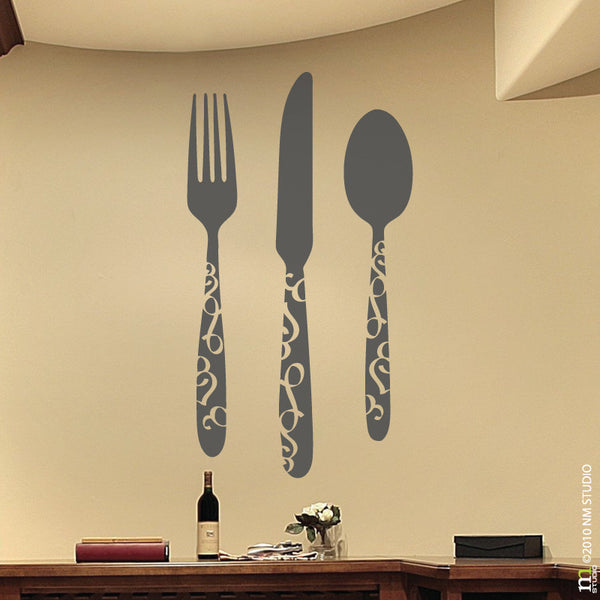 Flatware Silverware Wall Decal Kitchen Decor