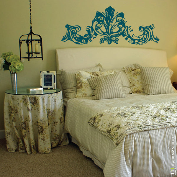 Decorative Ornate French Door Topper Headboard Wall Decal