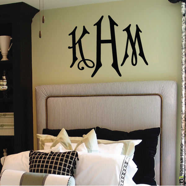 Hamilton Monogram Wall Decal Personalized Initials
