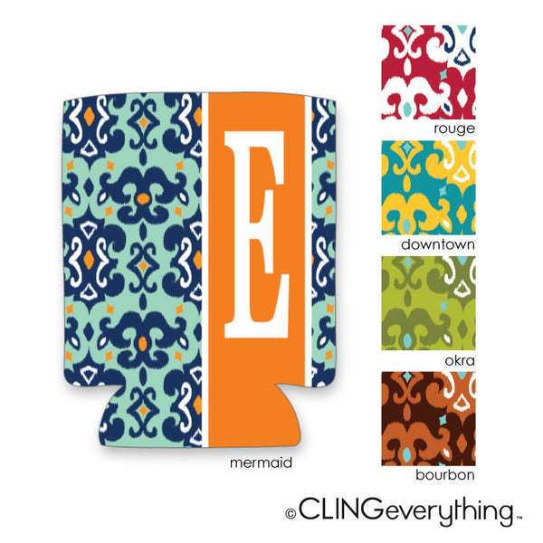 Ikat Koozie Personalized Monogram, Initial, Name
