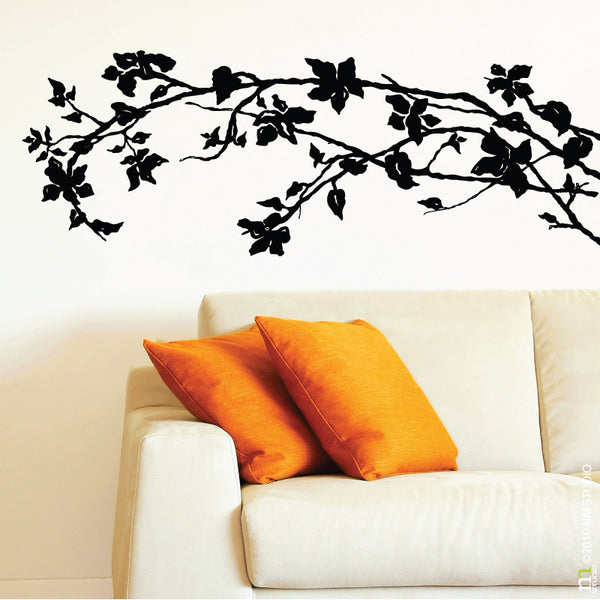 Jasmine Brance Vine Tree Floral Wall Decal
