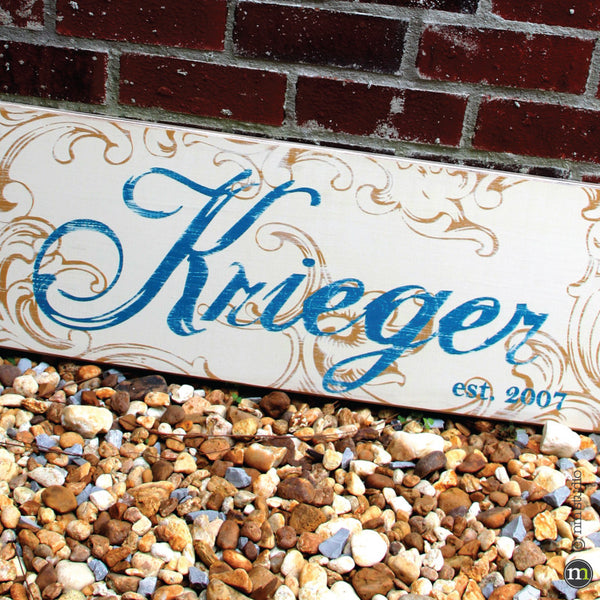 Krieger Personalized Family Name Custom Wood Sign Wall Art Handmade