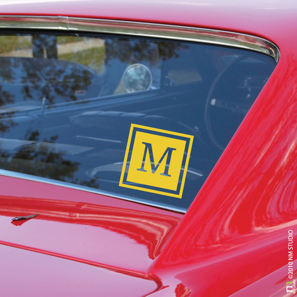 Mercer Square Monogram Car Decal