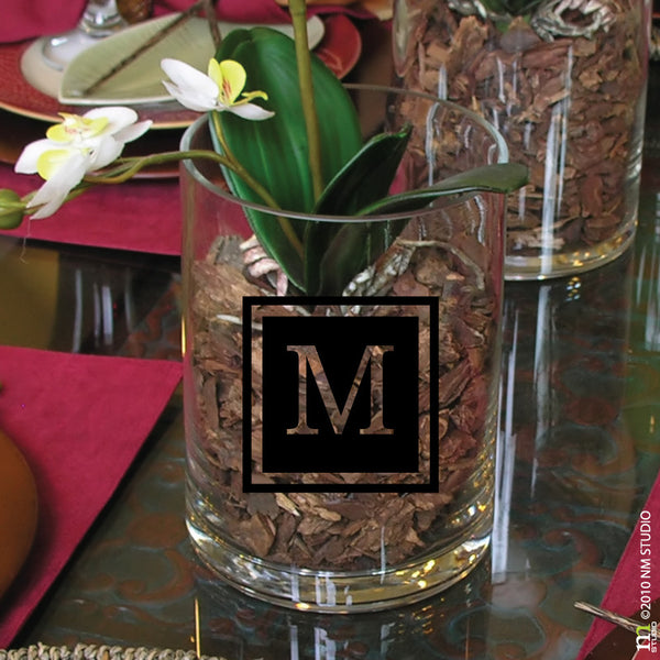 Mercer Monogram Initial Square Decal
