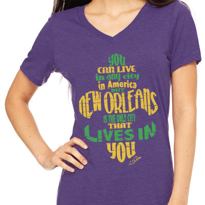 New Orleans Live in You Mardi Gras Women's Tee